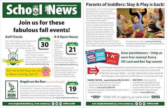 Aug. 25 School News