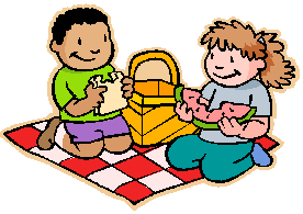 Clipart of kids at picnic