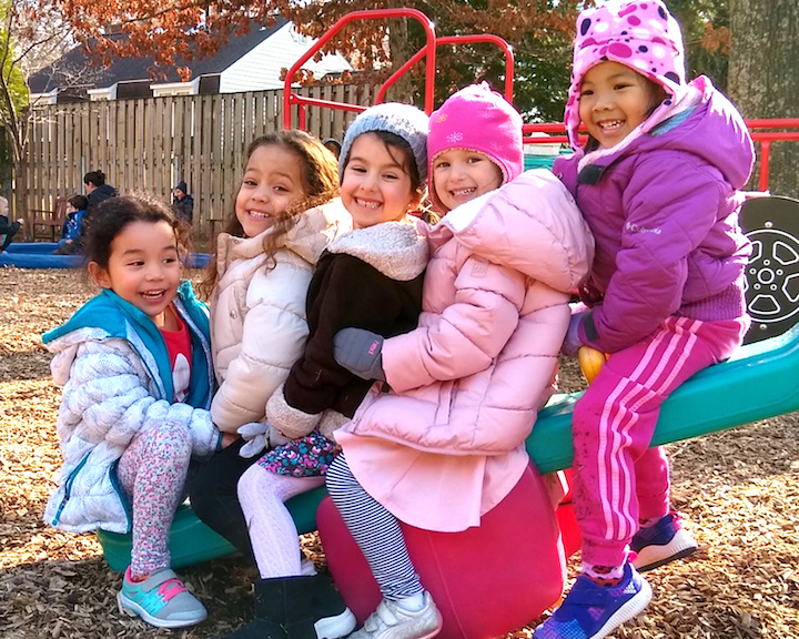 Girls on playground