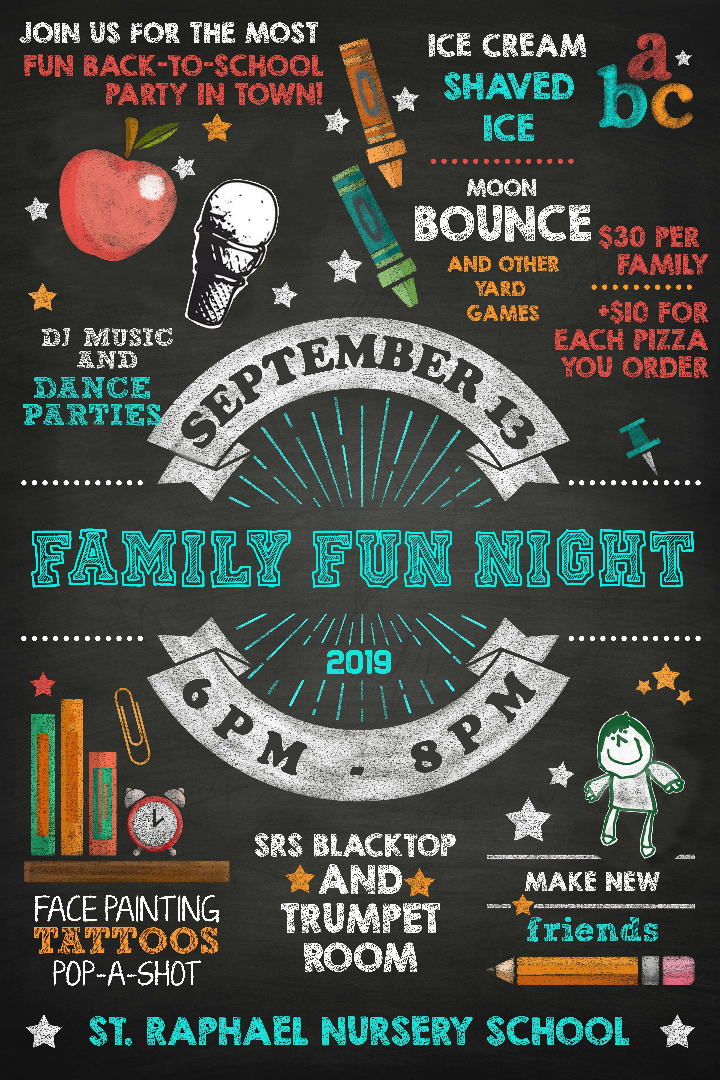 Flyer for Family Fun Night